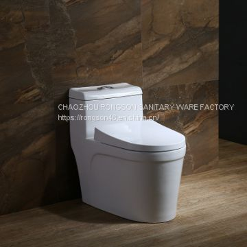 Wholesale ceramics bathroom new design economic one piece toilet with basin  combination in one suit