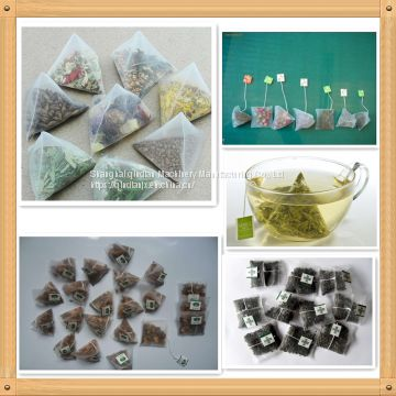 Factory Sale Ultrosound Sealing Nylon Triangle Teabag Packing Machine for Flower Tea