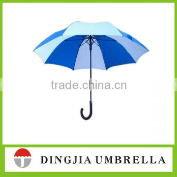 semi-auto open straight umbrella with customized print