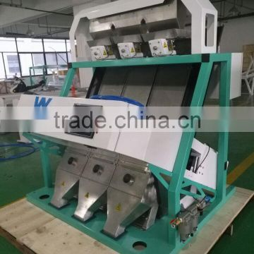 Touch Panel 3 chutes ccd black eyed pea color sorter machine