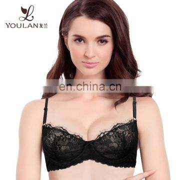 Perfetly Fit Customized Fabric Underwear Thin Wholesale Large Cup Bras