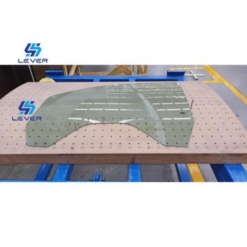 high production and high precision High Speed Automotive Side window glass Continuous Bending Tempering machine