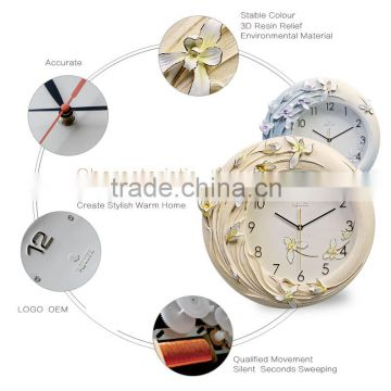 Arts and Craft tabletop decoration clock Flower wall art clock/