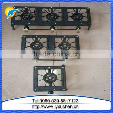 Double burner gas cooker with cast iron burner,portable gas stove from china factory