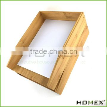 Natural Bamboo Office 2-Tier Letter Tray Homex-BSCI