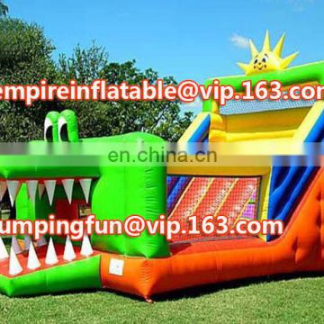 Hot selling and factory price Children play inflatable medium size slide, inflatable slide kids ID-SLM040
