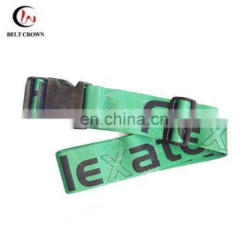 Polyetser material custom personalized fabric cross luggage bag strap with logo