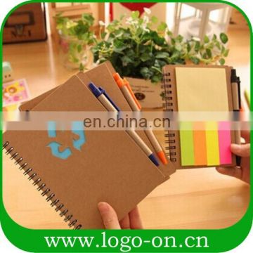 Recycling sticky small notepad with pen