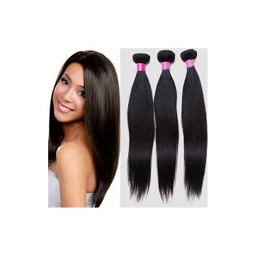 Mink Virgin Hair Silky Straight Natural Black 12 -20 Inch Clip In Hair Extension 18 Inches