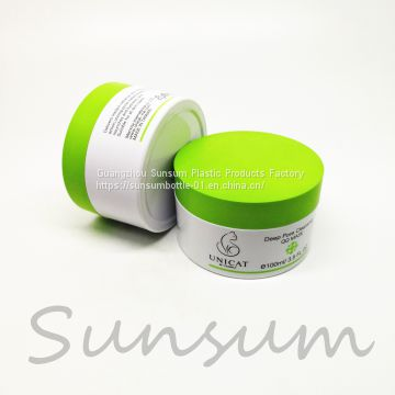 China Factory wholesale100g Plastic Cosmetic Cream Jar For Facial Cream Packaging