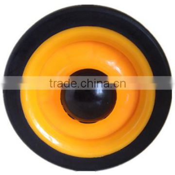 5 inch small semi-pneumatic rubber wheels for handcart, small cart, trolley