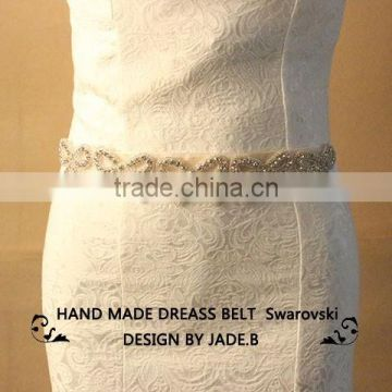 new crystal bridal accessories bridesmaid sash appliques wholesale