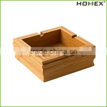 Bamboo Smoke Ash Holder Ashtray Cigar Ashtray Homex BSCI/Factory