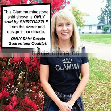 GLAMMA RHINESTONE T-SHIRTS For Grandma who loves to Sparkle for Grandma