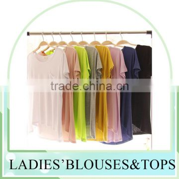 hot sell cool summer candy color modal blouse