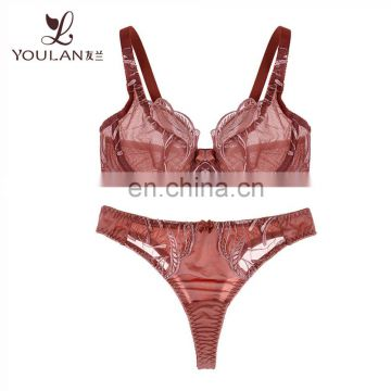 OEM Service Transparent Sexy Lingerie Bra And Panty Set