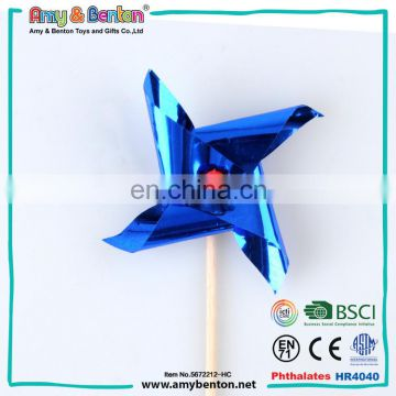 Promotional hot selling small plastic colorful windmill toys for kids