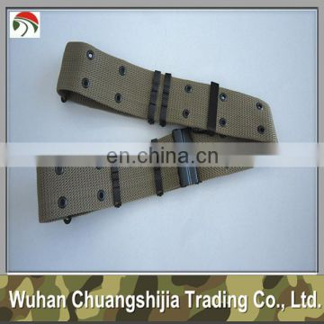 Khaki PP Military Belt With Buckle
