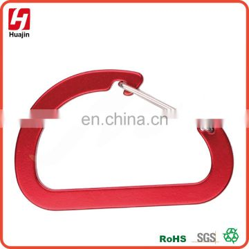 Large Aluminum Red Wiregate D Shape Carabiner,keychain IN STOCK