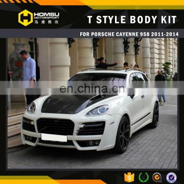 TA style parts design front bumper FRP wide body kit for cayene 958