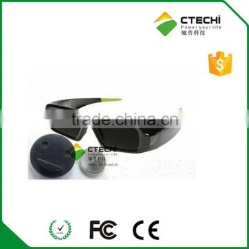 3d glasses battery CR2032 inside,lithium battery with case