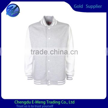 Wholesale New Style Plain Button Up Varsity Jacket Wool Varsity Jacket baseball Jacket                                                                         Quality Choice