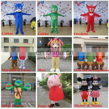 Factory direct sale customized anime mascot costume for adult
