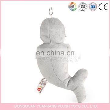 Custom 10cm Mini Plush Dolphin Toy Keychain