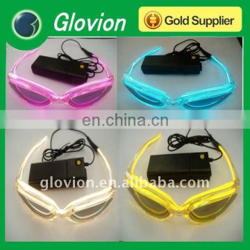 Fashion el flashing light glasses for christmas gifts