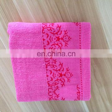 Cheap price stock goods Jacquard design 100% Cotton Terry Towel
