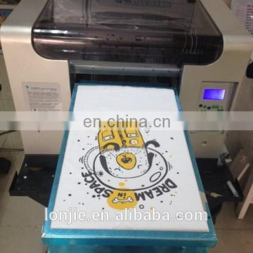 SLJET A3 digital flatbed plain t-shirt printer for clothes