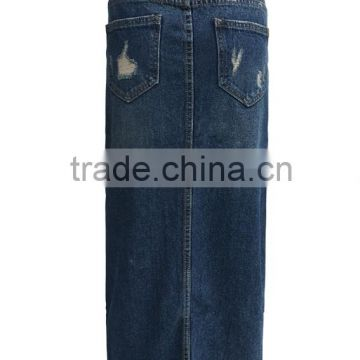 professional jeans manufacture in guangzhou china girls fashion skinny ripped denim jeans women long skirts                                                                                                         Supplier's Choice
