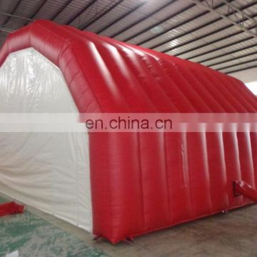 2017 Hot sale Red color stage inflatable tent, inflatable stage cover for concert or events
