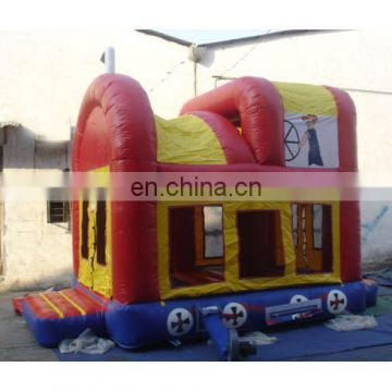 Inflatable train bounce, inflatable train jumper, inflatable car bounce combo,inflatable jumper castle game,