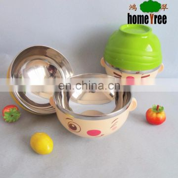 Various Custom Naughty Little Doll Stainless Steel Mixing Salad Bowl Combinet Set