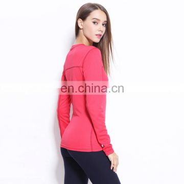 Various sizes Long Sleeve Women Sports Yoga Running T shirts