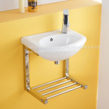 China Supplier Bathroom sanitary ware Wall Hung ceramic white Wash Hand Sink basin with good quality cheap price