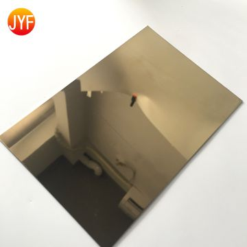 Jyfa600 Stainless Steel Gold Mirror Sheet