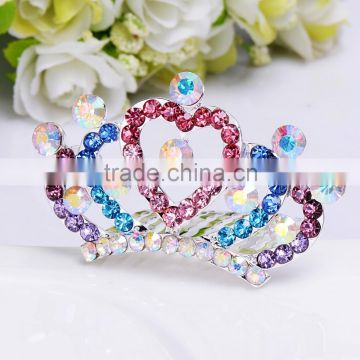 2015 new mdel FZZ250 Bridal wedding hair tiara crown wholesale one whole love star and four half love star