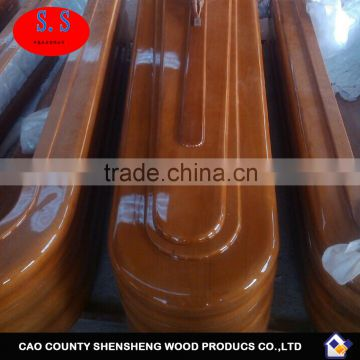 Chinese paulownia wooden caskets / cheap prices coffins for sale of