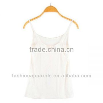 Lace back White Tank Tops Ladies Rhinestone Tank Tops