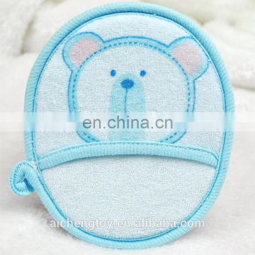 colorful bear plush toy baby soft comfortable bath loofah sponge