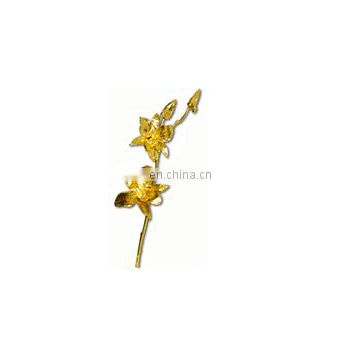 24kt Gold Plated Natural Orchid