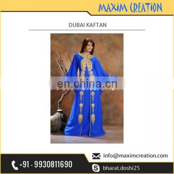 Women's Recommended Dubai Kaftan with Tremendeous Needle Less Work on it