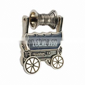 Promotional gifts custom 3d silver enamel metal lapel pin