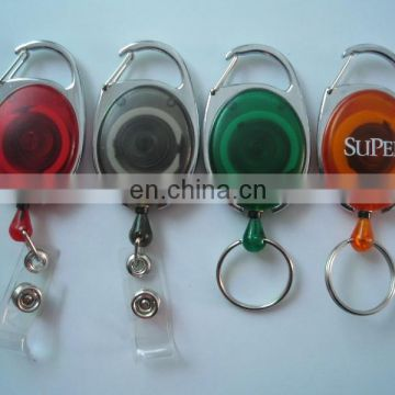 hot sale & high quality badge reel with key chain