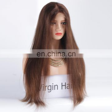 Natural wigs bleached knots full lace wig