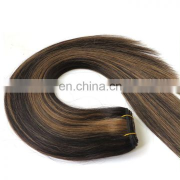 Mixed Color Black and Brown Brazilian Hair Weave