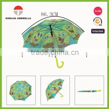 fashion heat trabsfer planting kids straight umbrella souvenir