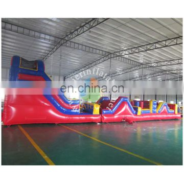Giant red Inflatable Obstacle Course